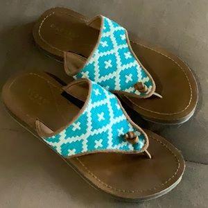 Acorn Artwalk Embroidered Sandals